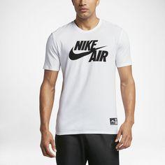Nike Sportswear Men's Air Logo T-Shirt Size Medium (White) - Clearance Sale