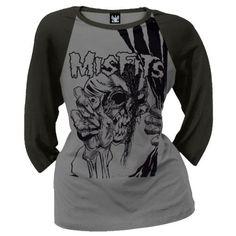 Misfits - Pushead Vintage Ladies Baseball T-Shirt, http://www.amazon.com/dp/B000X97UPG/ref=cm_sw_r_pi_awdm_shoQub1Q0ZMYC