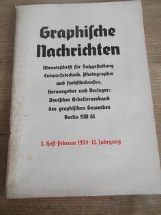 Cover Graphische Nachrichten, 13. Jahrgang, Heft 2, Februar 1934