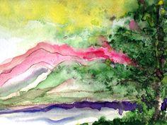 San Juan watercolor, by Dan Nelson