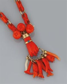 18th century coral necklace.