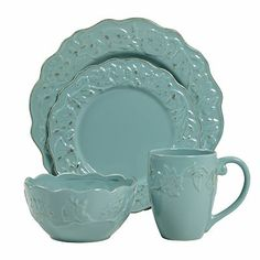 Tabletops Gallery Charlotte 16-pc. Dinnerware Set...I want these :).