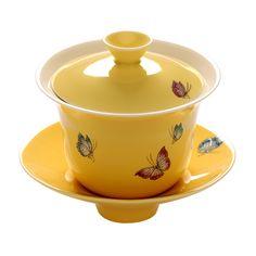 Gaiwan tea cup: Butterfly