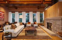 Bill Poss Architecture | Aspen Downtown Residence | Living Area #mountain #home #modern #interior