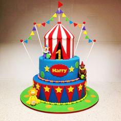 Torta Lío 💙 Carnival Cakes, Circus Cakes, Circus Carnival Party, Carnival Birthday Parties, Carnival Themes, Circus Birthday, Birthday Fun, Birthday Party Themes, Birthday Ideas