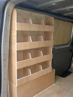 VW Transporter T5, T28, T30 plywood shelving van racking storage
