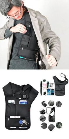 Hidden Oxter Invisible Crossbody Bag Multi-function Burglarproof Storage Bag is hot-sale, many other cheap crossbody bags on sale for men are provided on NewChic.Best Storage Ideas – Find Your Best Storage ideas For Your Inspiration Travel Accessories For Men, Camping Accessories, Mens Gadgets, Cheap Crossbody Bags, Herren Outfit, Cool Gear, Sport Chic, Tactical Gear, Tactical Clothing