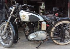 Moto AJS Antiguo