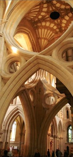 Scissor arch at Wells Cathedral in Somerset, England • photo: Matt Wiebe on Flickr