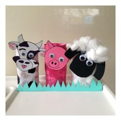 Toilet Roll Craft: Farm Animals (this makes me think of Selah, Sophie and Shelby.)