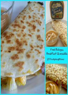 Fried Bologna Breakfast Quesadilla