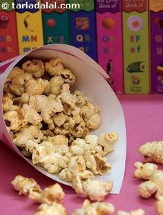 Cheese Popcorn ( Finger Foods for Kids ) recipe | by Tarla Dalal | Tarladalal.com | #33616