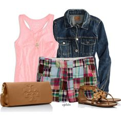 """""""Old Navy Madras Shorts"""" by angkclaxton on Polyvore"""