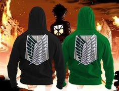 2017 Attack on Titan Scouting Legion Hoodie #attackontitan #surveycorps #scoutinglegion #attackontitanseason2 #ShingekinoKyojin #hoodie #fashion #unisex
