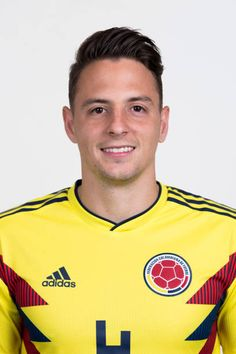 Santiago Arias of Colombia poses for a portrait during the official FIFA World Cup 2018 portrait session at Kazan Ski Resort on June 13 2018 in Kazan. Fifa World Cup 2018, Poses, Soccer Players, Russia, Polo Ralph Lauren, Mens Tops, Pictures, Artsy Fartsy, Collection