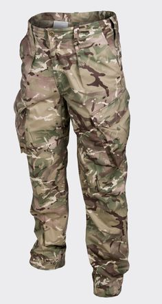 Helikon PCS Trousers MP Camo British MTP Pattern Reinforced crotch and seat part• Two front pockets• Small zipped pocket in left front pocket