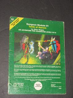 Dungeons and Dragons - Tomb of Horrors - Module S1 by Gary Gygax