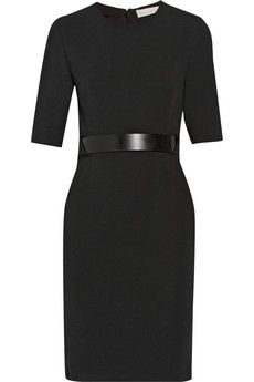 Stella McCartney Andra stretch-cady dress | NET-A-PORTER great for work...so chic...and evening dates.
