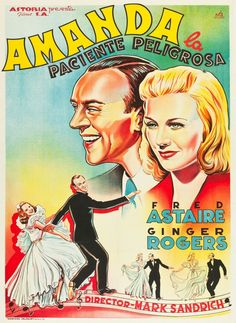 A Spanish poster for the 1938 Fred Astaire-Ginger Rogers musical CAREFREE. (Source: ha.com)