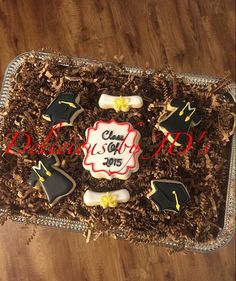 Graduation Mini Cookies Gift Bags  1 dozen by DeliciousbyJDs