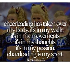 SO TRUE - Doesn't take long for it to take over #cheerquotes