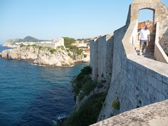 Dubrovnik city wall.  Looking back at the fort.