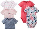 Carters Baby Girls 5 Pack Bodysuits (Baby) - Assorted Solids - Pink - 24 Months Reviews