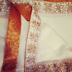 Arzoo gotapatti shawl-offwhite To order call 9958836354 Or write to us at hello