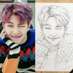 Kpop Drawings, Art Drawings Sketches Simple, Pencil Art Drawings, Realistic Drawings, Bts Chibi, Kpop Fanart, Drawing Techniques, Bts Pictures, Art Sketchbook
