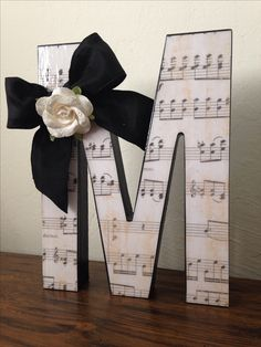 Cute DIY gift for music teacher...use their initial, school name initial, etc.