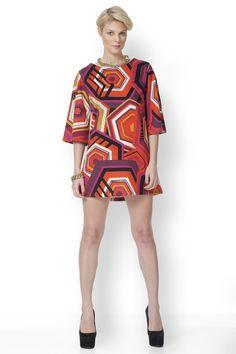 Φόρεμα με έντονα γεωμετρικά print με χαρούμενο φωτεινό πορτοκαλί και κόκκινο!!! Dresses, Style, Fashion, Vestidos, Moda, Stylus, Fasion, Dress, Gowns