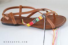 Friendship Gladiator Sandals Tutorial | Mom Spark - A Trendy Blog ...