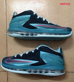 Nike LeBron 11 Low Black, Teal, and Pink