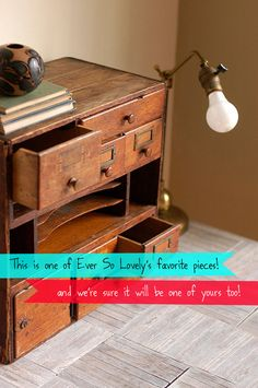 the perfect desk sized card catalog #vintage #office #library