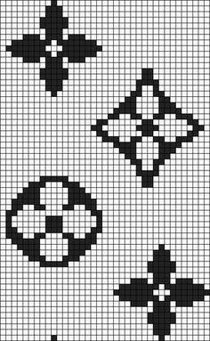 Alpha friendship bracelet pattern added by vance. Tapestry Crochet Patterns, Bead Loom Patterns, Beading Patterns, Cross Stitch Patterns, Tiny Cross Stitch, Simple Cross Stitch, Pixel Pattern, Pattern Art, Knitting Charts
