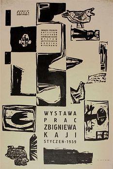 Zbigniew Kaja Wystawa prac Zbigniewa Kaji poster art from Poland