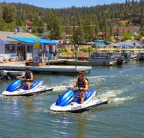 Break wake on a Jet Ski at Big Bear Lake. http://www.visitcalifornia.com/region/discover-inland-empire