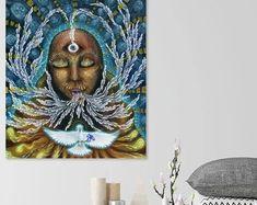 Visionary Art by Domè Moon. Clear the amnesia and awaken to your Divine Feminine wisdom.   Prints and originals available  #divinefem #divinefeminine #sacredart #visionaryart #spiritualartwork #sisterhood Zen Home Decor, Meditation Art, Goddess Art, Witch Art, Feminist Art, Amnesia, Visionary Art, Sacred Art