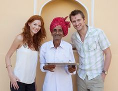 me and vanessa smile from france  this in the mandawa rajasthane  Nawalgarh rajasthane india