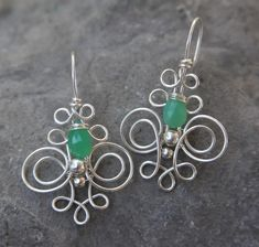 Chrysoprase earrings. $55.00, via Etsy.