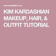 KIM KARDASHIAN MAKEUP, HAIR, & OUTFIT TUTORIAL Easy Makeup Tutorial, Makeup Tutorials, Simple Makeup, Kim Kardashian, Beauty Makeup, Dolls, Tips, Hair, Outfits