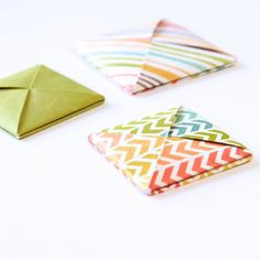 This origami square tutorial does double duty. Not only can you fold your letters into a square, but also use it as a simple envelope!
