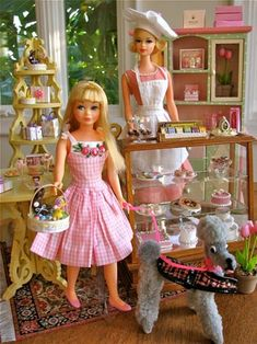 barbie diorama | Big Red Angel | The Victorian Woodshop – Blog Section. I have some of this furniture--love the yellow!