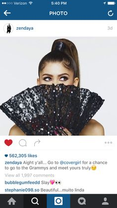 Zendaya is having a photo shoot so I'm like showing u what she posted on Instagram