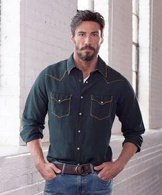 Men's Ryan Michael Whip Stitch Silk Linen Shirt at Maverick Western Wear