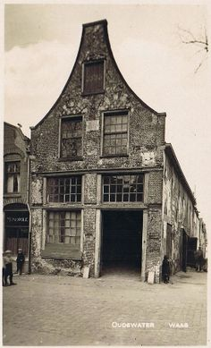 Where presumably witches were weighted on the scales. If they were too light they were declared as being a witch.  De Heksenwaag in Oudewater Netherlands. Very old photo.