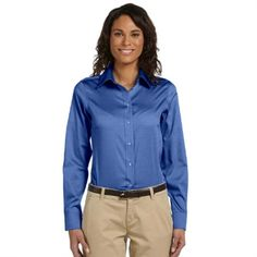 Embroidered Executive Performance Ladies Oxford Embroidered Executive Performance Ladies Oxford is made of 85% cotton and 15% polyester. http://www.southernad.com/Embroidered-Executive-Performance-Ladies-Oxford-p/ch620w.htm