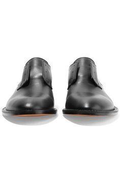Givenchy - Chain-trimmed Collapsible-heel Leather Brogues - Black