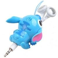 Blue Stitch 3.5mm Retractable Cable Earphone