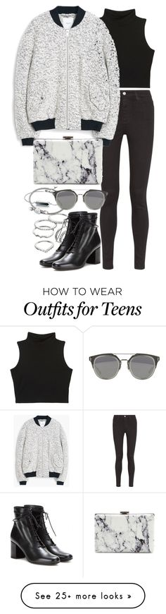 """Untitled #7782"" by nikka-phillips on Polyvore featuring AG Adriano Goldschmied, Apt. 9, Links of London, Monica Vinader, MANGO, Yves Saint Laurent and Balenciaga"